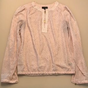 The Limited Light Pink Blouse with Gold Print